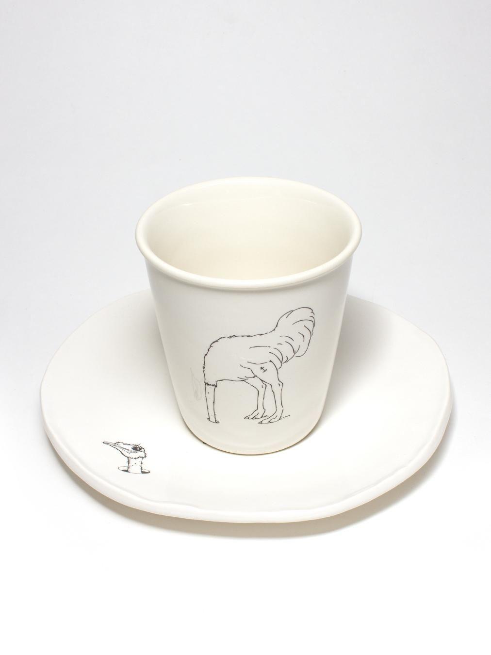 Bazar et Garde-Manger ボナペティ!コレクション オーストリッチカップ…シンプルだけどひょうきんでいいなこれ。きっとソーサーとセットがいいね。