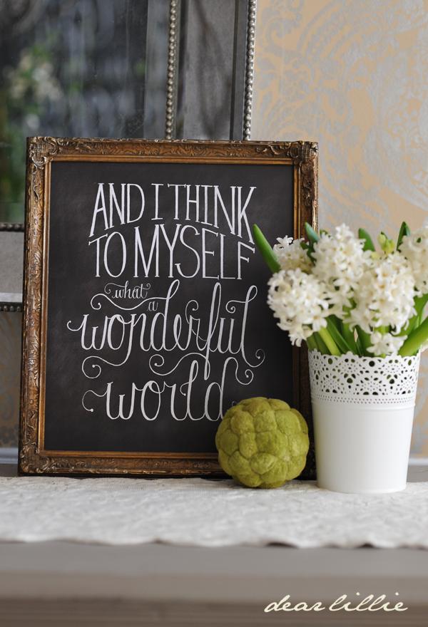 Dear Lillie — I Think To Myself 11x14 Chalkboard Print