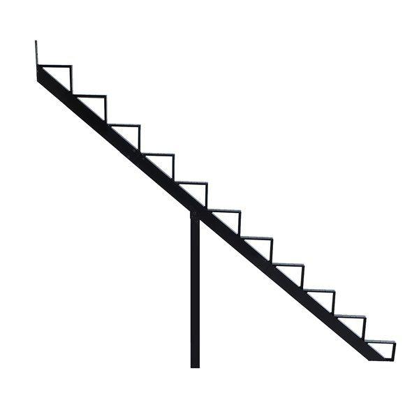 Best Pylex 7 5 In X 9 In Black 11 Step Aluminum Stair Riser 640 x 480