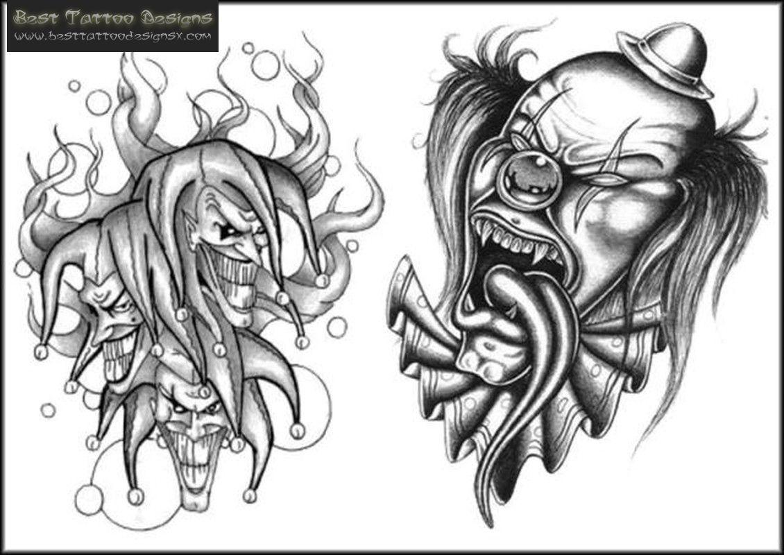 killer clown tattoo ideas pinterest clown tattoo