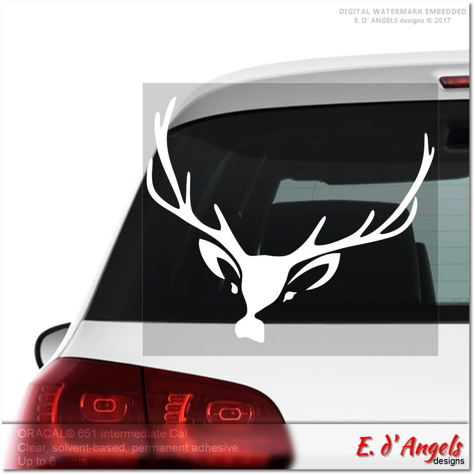Deer Decal, Car Decal, Custom Decals, Vinyl Car Decal, Decals, Custom