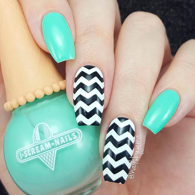 33 Amazing Aqua Nails Designs Youll Want To Try Right Now Pinterest