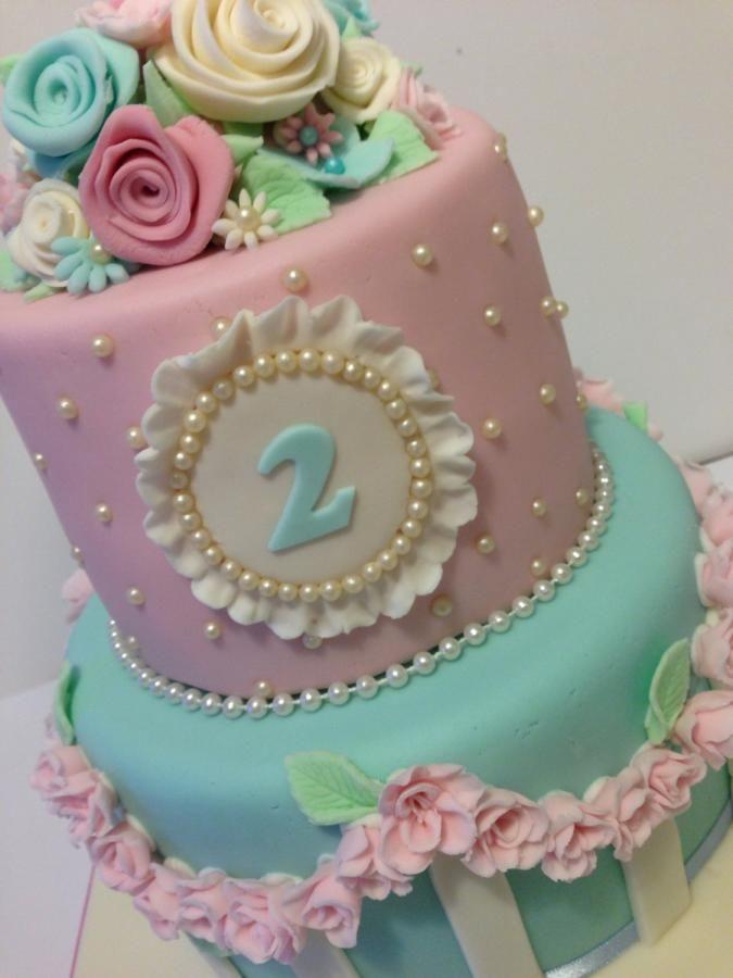 Shabby Chic Birthday Cake Cake By The Rosebud Cake Company
