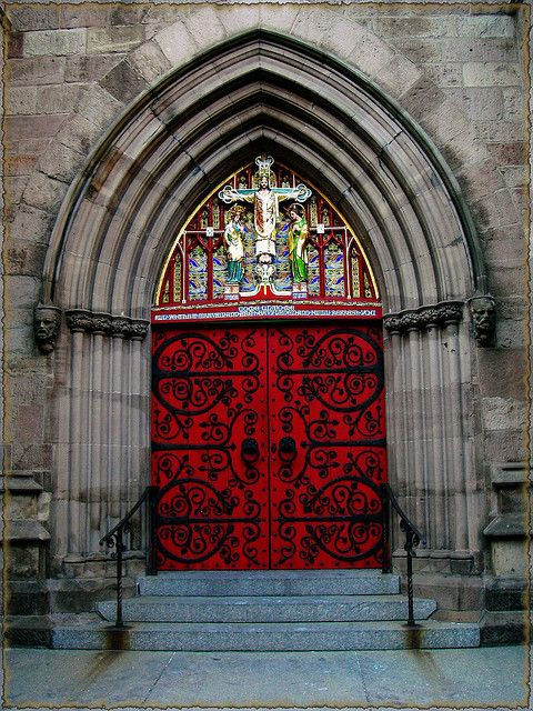 Church Door - St Mark\u0027s Episcopal Church Philadelphia ... & Gothic door | Portal Church and The o\u0027jays Pezcame.Com