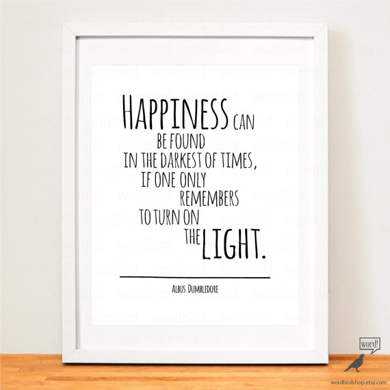 Albus Dumbledore 4 Quote Set Happiness Quote Typography