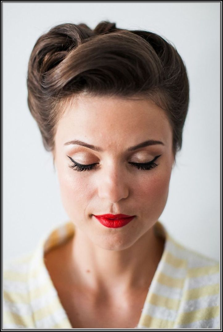 50s style hair updos images galleries. Black Bedroom Furniture Sets. Home Design Ideas
