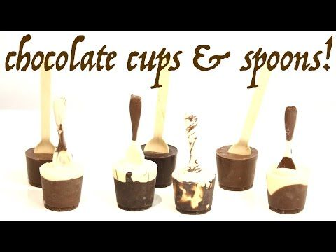 how to make CHOCOLATE SPOONS WITH CUPS! for the ULTIMATE HOT CHOCOLATE! | Its A Piece Of Cake - YouTube