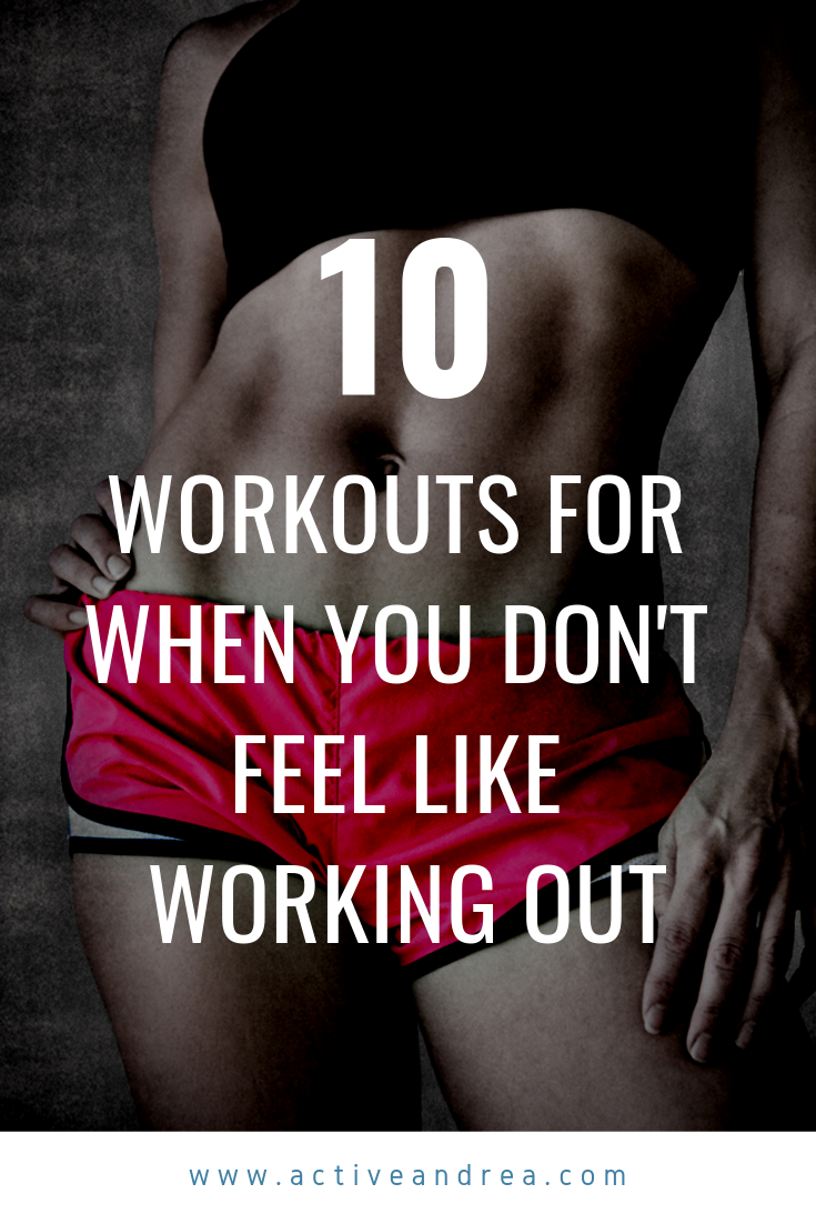 10 YouTube Workouts For When You Don't Feel Like Working Out #pilatesworkoutvideos