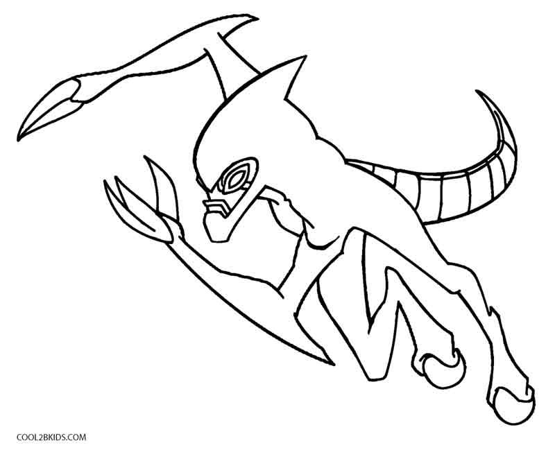 printable ben ten coloring pages for kids cool2bkids - Ben Ten Coloring Pages