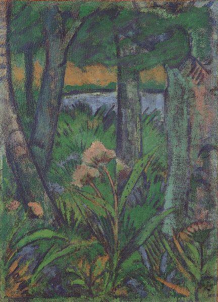 Otto Müeller (Germany-Polish; Lubawka, Poland 1874~1930 Wrocław, Poland) | Die Brücke Expressionism Group