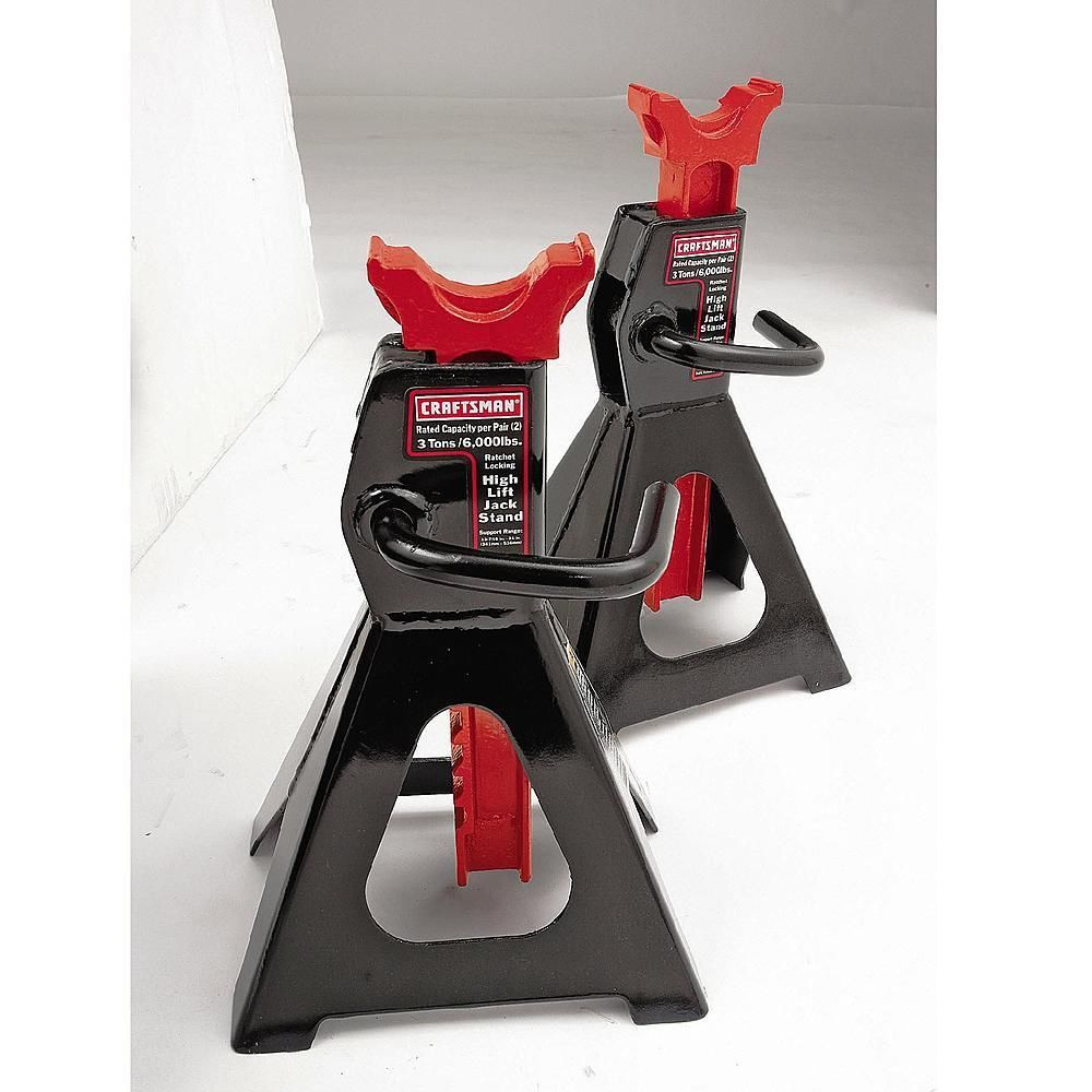 NEW Craftsman 3 Ton High Lift Jack Stands Pair 2 Auto