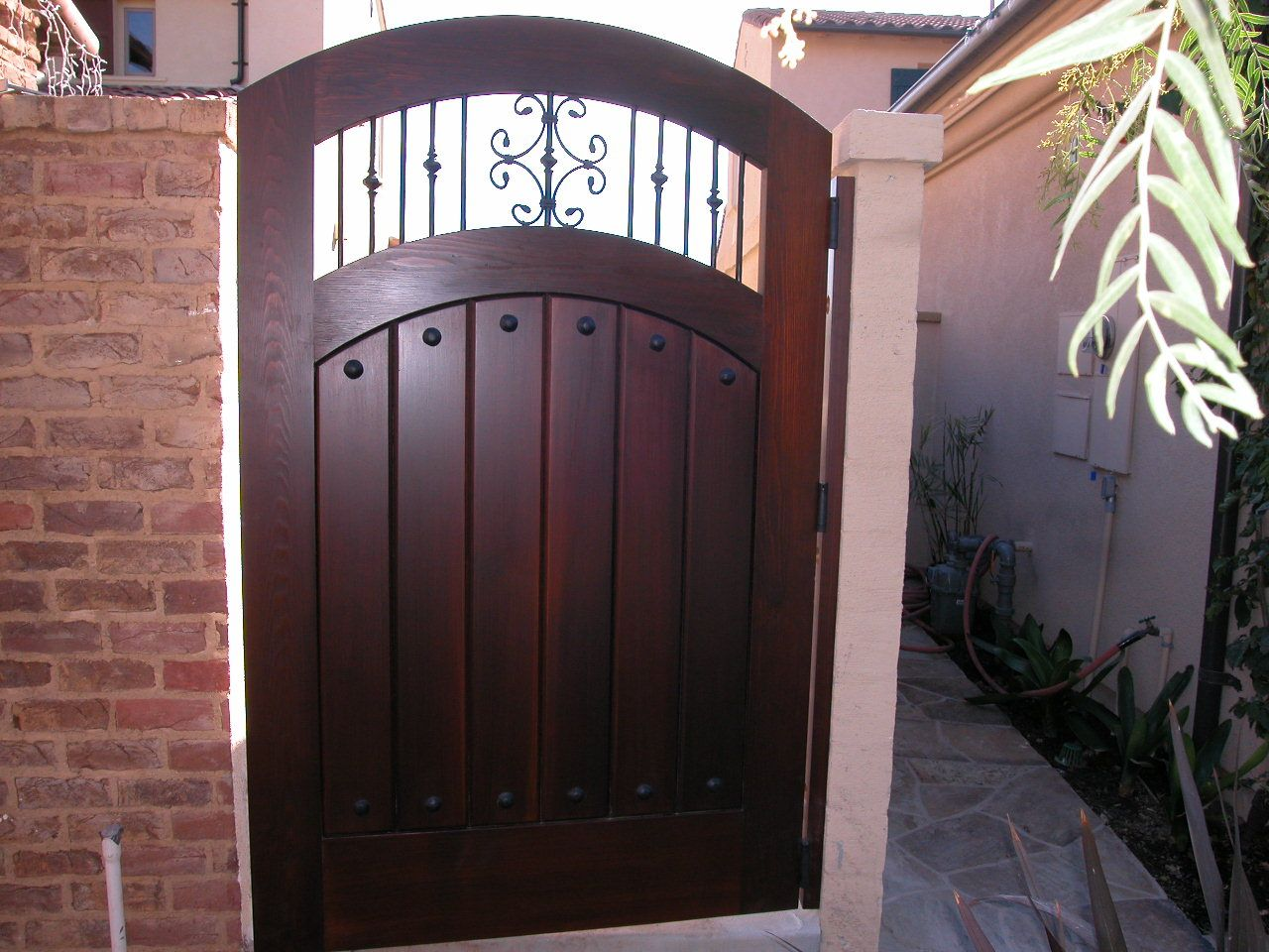 custom wood gates by garden passages premium wood gates features
