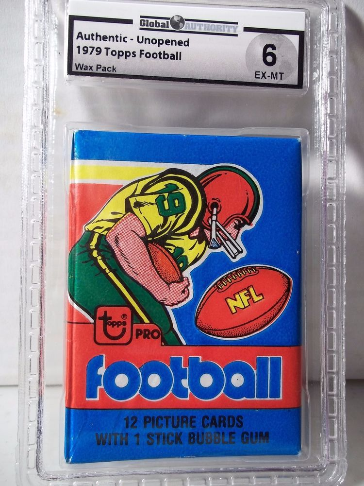 1979 Topps NFL Football Wax Pack GAI EX-MT 6 Possible Earl Campbell Rookie Card #NFLCollectible