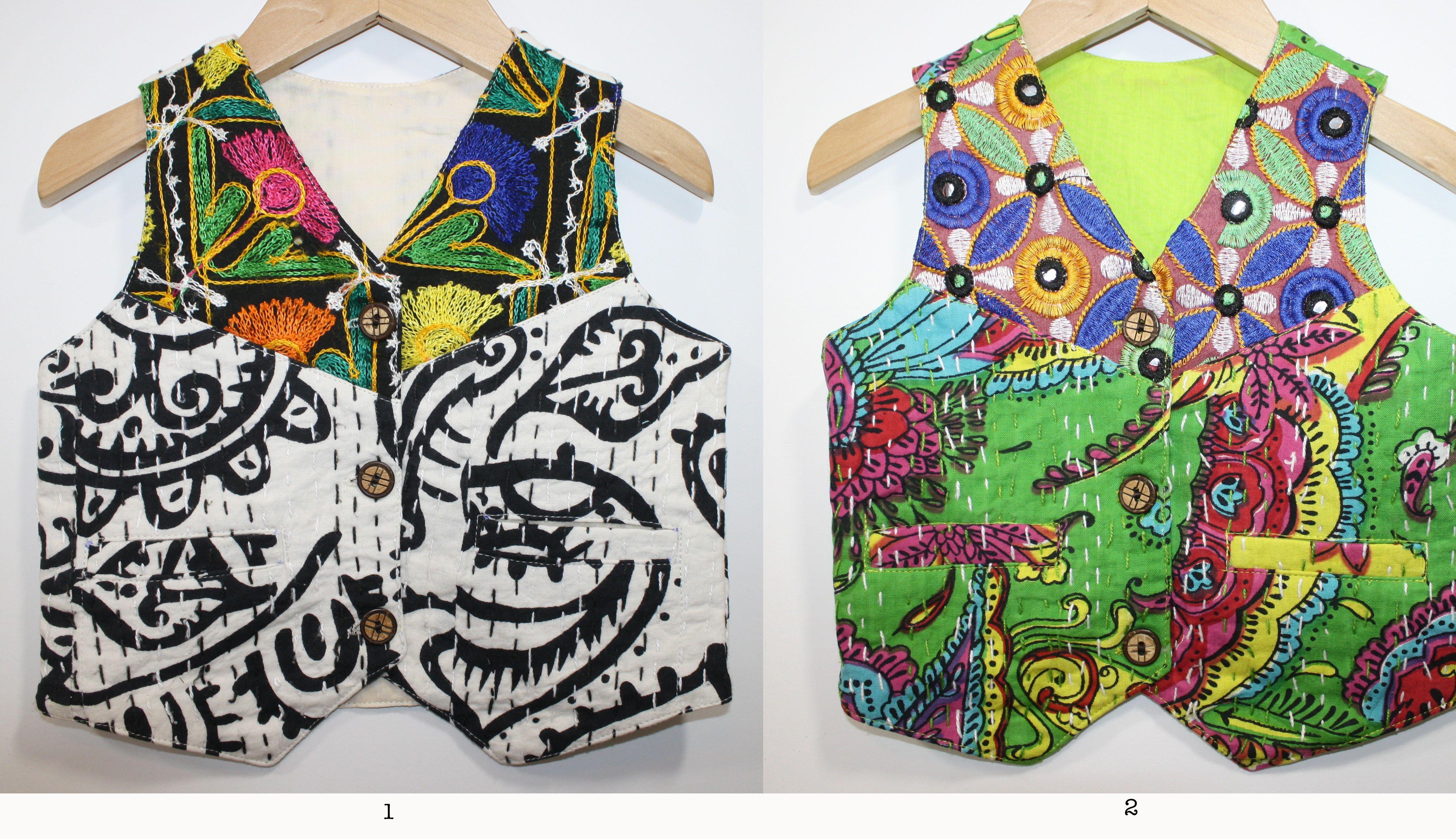 Kantha Vest 12 and 18 Months