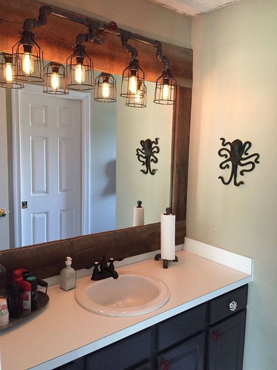Best Photo Gallery Websites Industrial Pipe Lighting Steampunk style electric Bathroom vanity wall sconce Edison bulbs sold separately