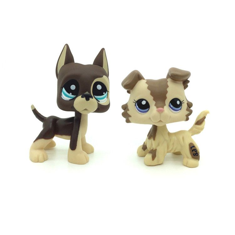 Littlest Pet Shop Lps Toy 817 Chocolate Great Dane Dog 2210