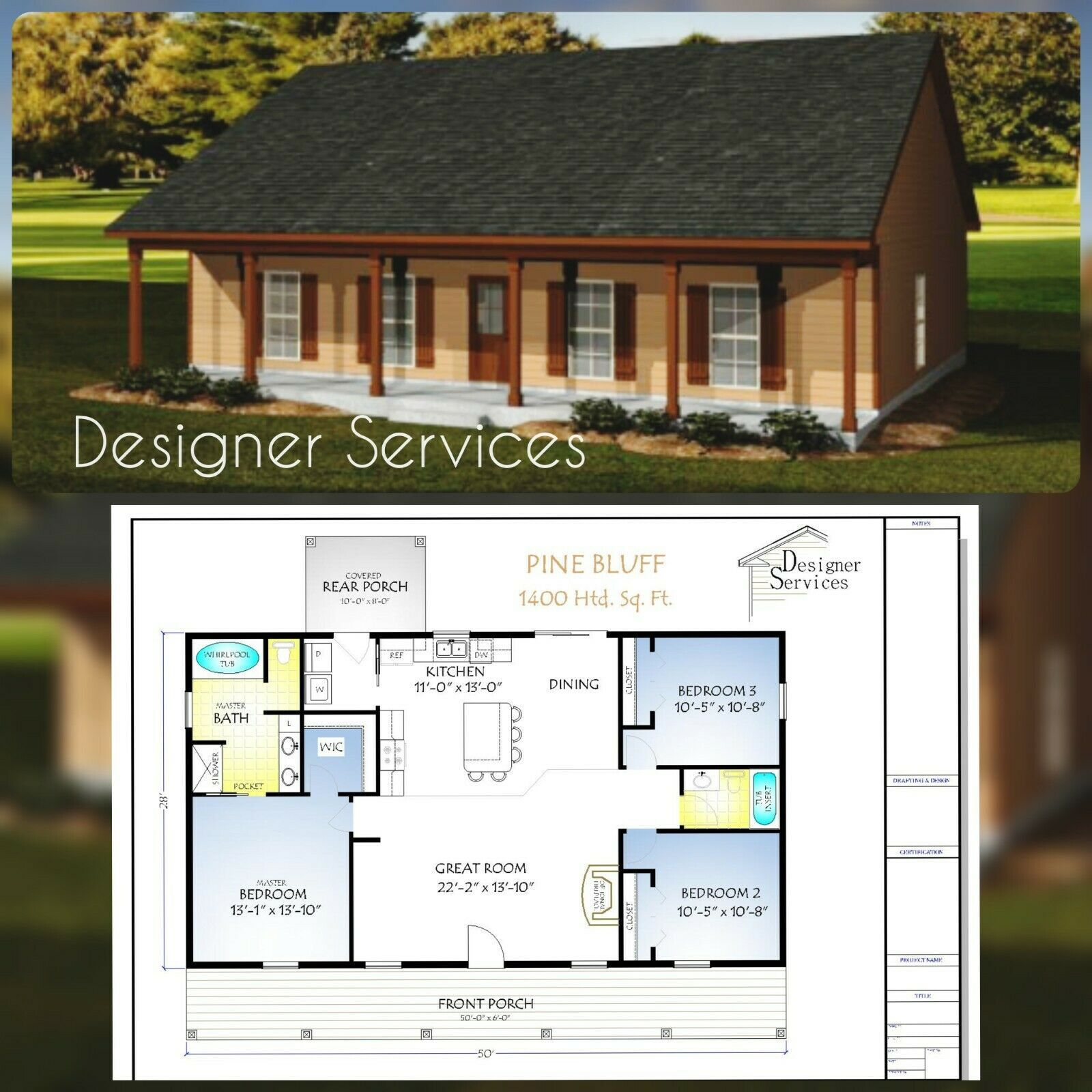 The Pine Bluff Home House Building Plans 1400 Sq Ft In 2021 Building Plans House Pole Barn House Plans Building A House