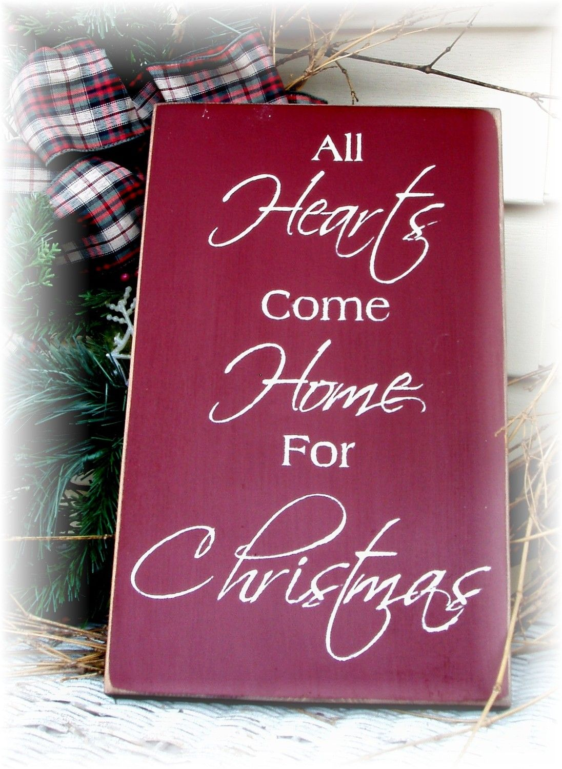 Come Home For Christmas.All Hearts Come Home For Christmas Primitive Wood Sign