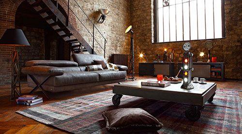 Industriële woonkamer inrichten | Interieur inrichting | Interieur ...