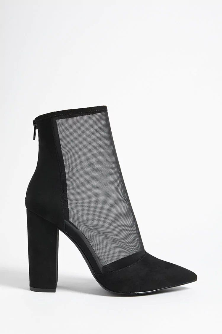 c03e3197711 Pointed Mesh Ankle Boots | Forever21 | forever 21 | step it up ...