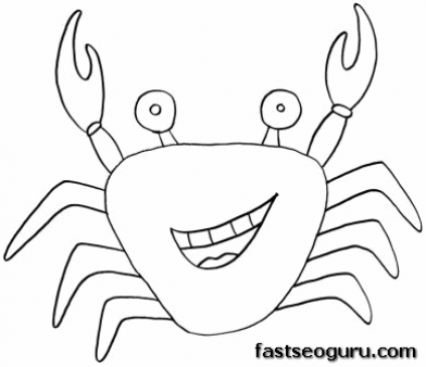 Printable Sea Animal Crab Coloring Pages Printable Coloring Pages For Kids Coloring Pages Free Printable Coloring Pages Fish Coloring Page