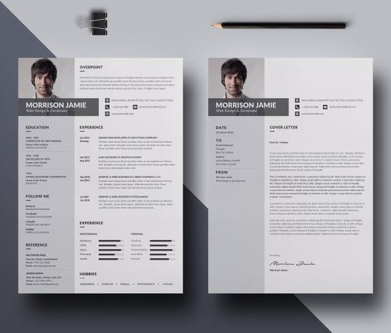 professional resume template word modern resume template