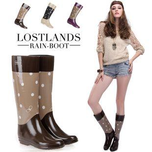 Lostlands女式雨鞋 橡胶高筒雨靴 保暖雨鞋绒里/四季款 2种内里-淘宝网
