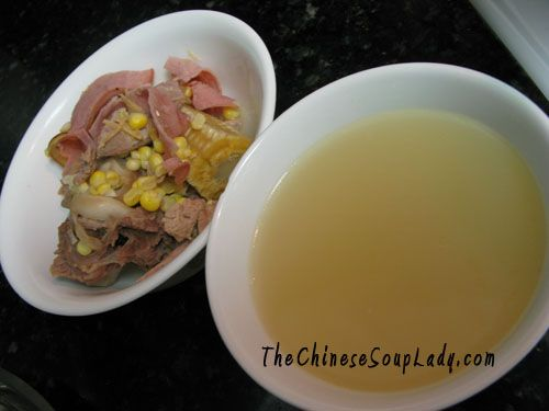 The Chinese Soup Lady & Chinese Soup Recipes » Blog Archive » Corn with Ham in Turkey Broth