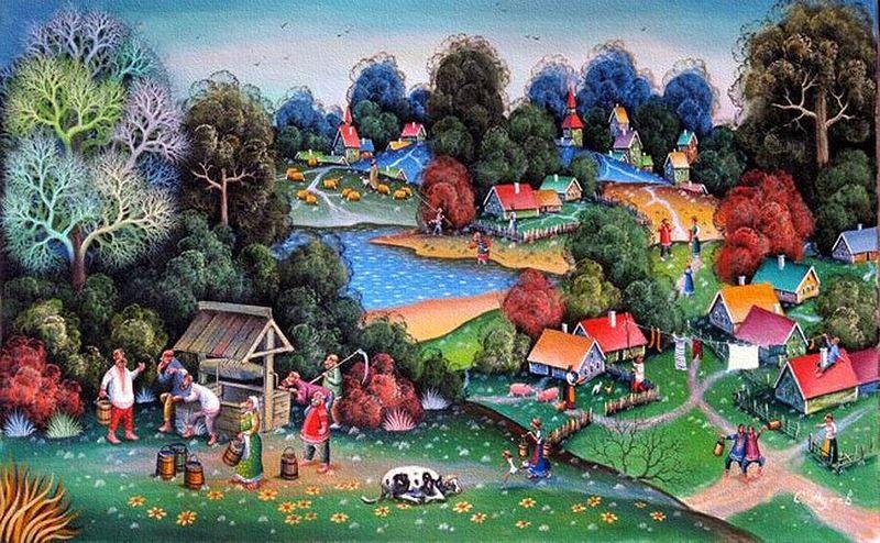 Село картинки сказка