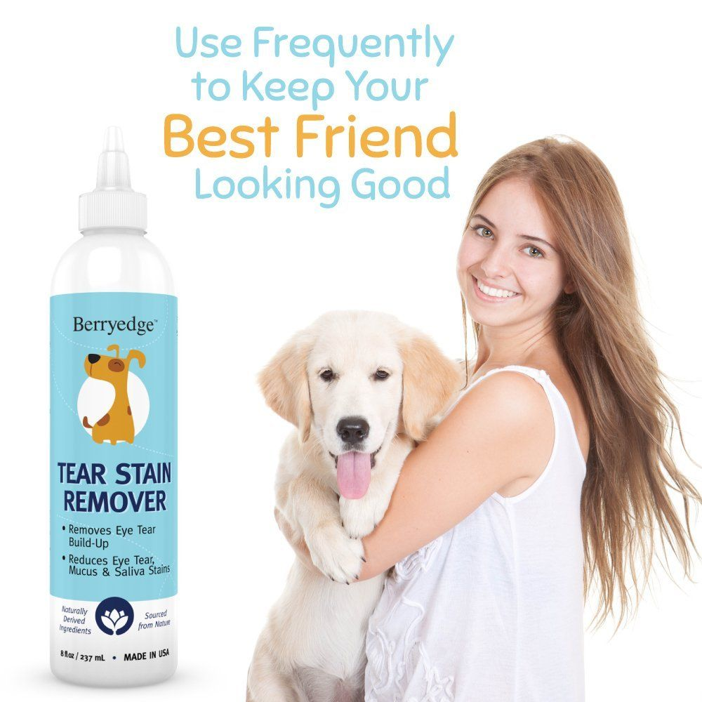 Dog tear stain remover best natural formula for dogs and