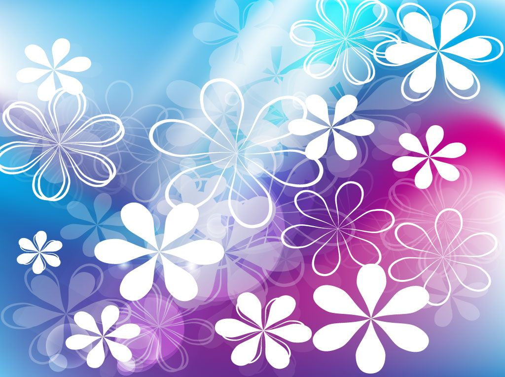 Abstract blue flower background HD picture Abstract stock D - blue flower backgrounds