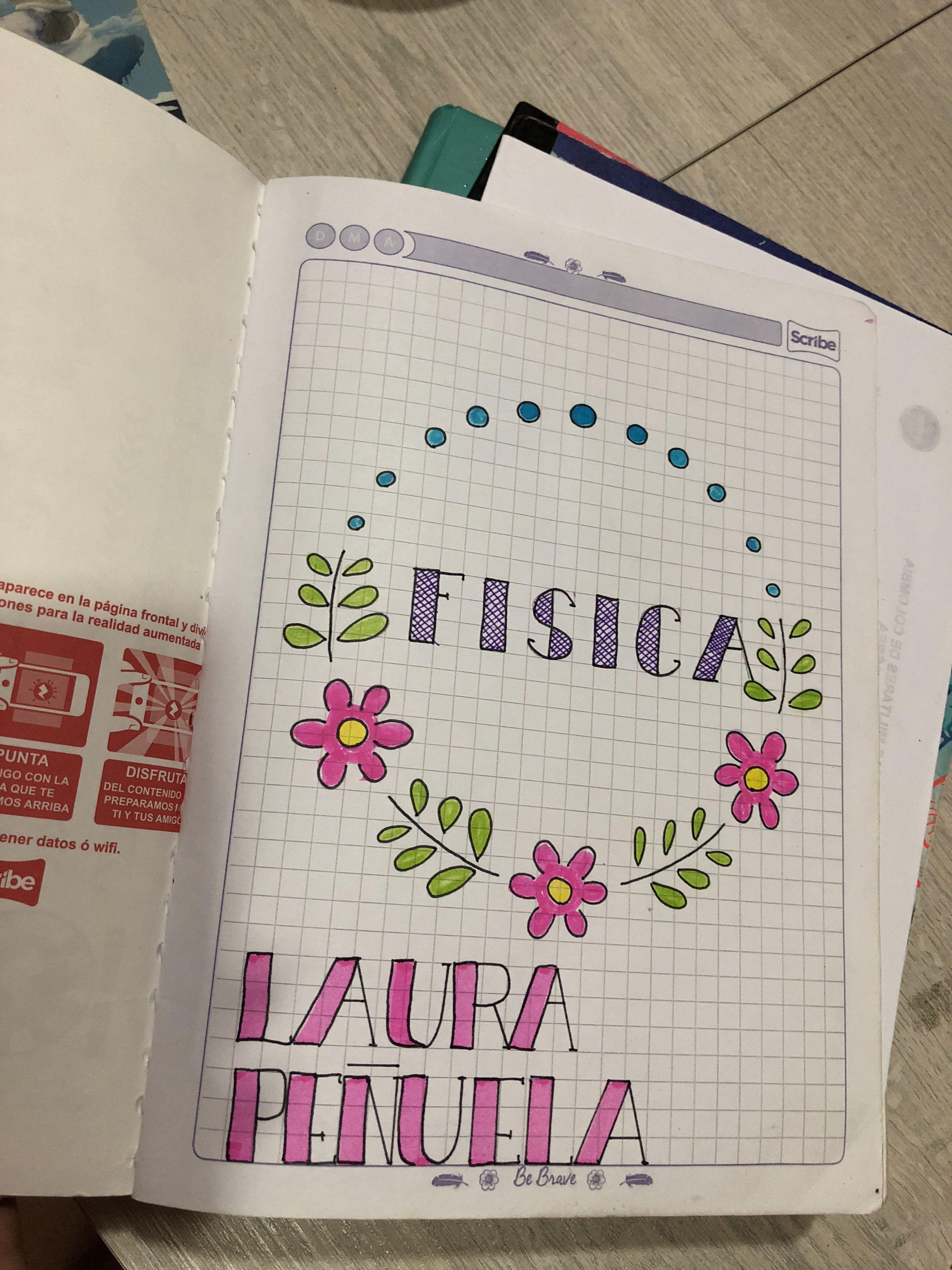 Decora Tu Primera Hoja De Las Materias Para La Escuela Portadas De Cuadernos Libreta De Apuntes Decoracion De Cuadernos
