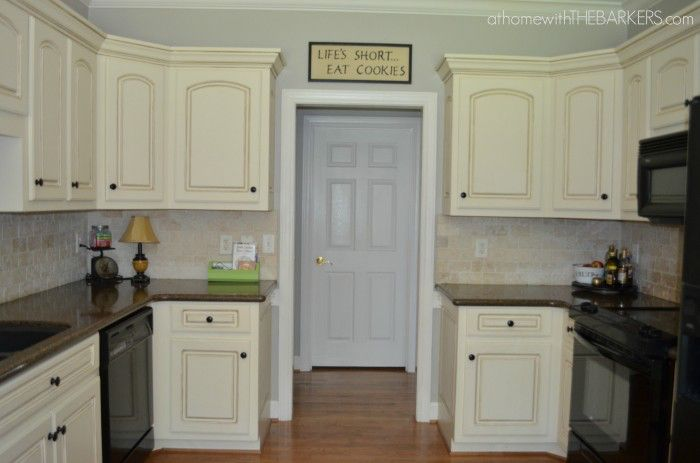 Could Be Our Kitchen Cream Cabinets And Grey Walls Bm