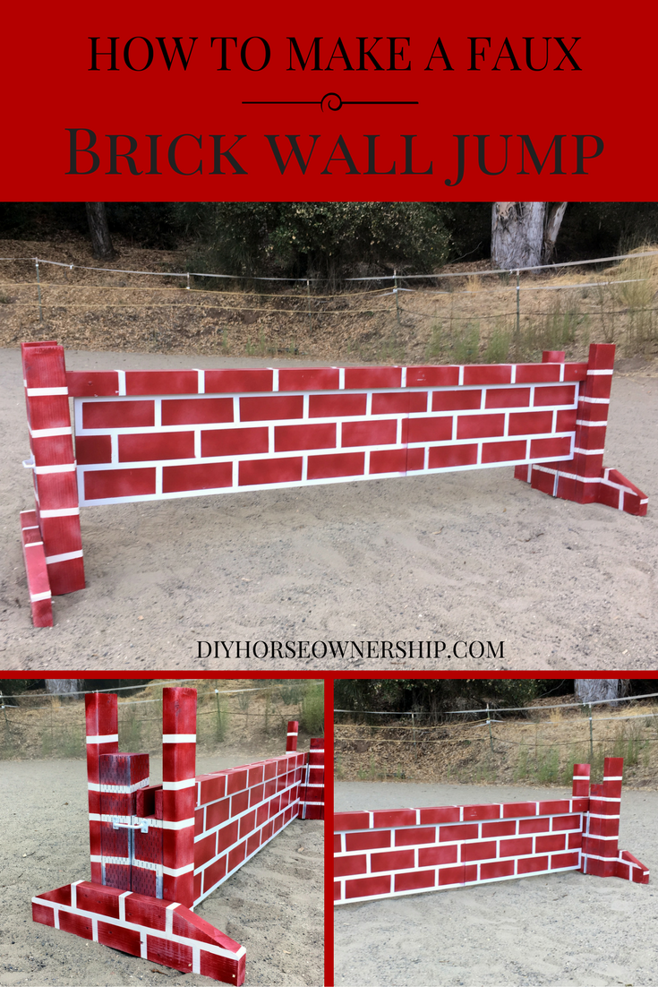 Diy do it yourself how to make a faux brick wall cross country or diy do it yourself how to make a faux brick wall cross country or stadium horse solutioingenieria Gallery