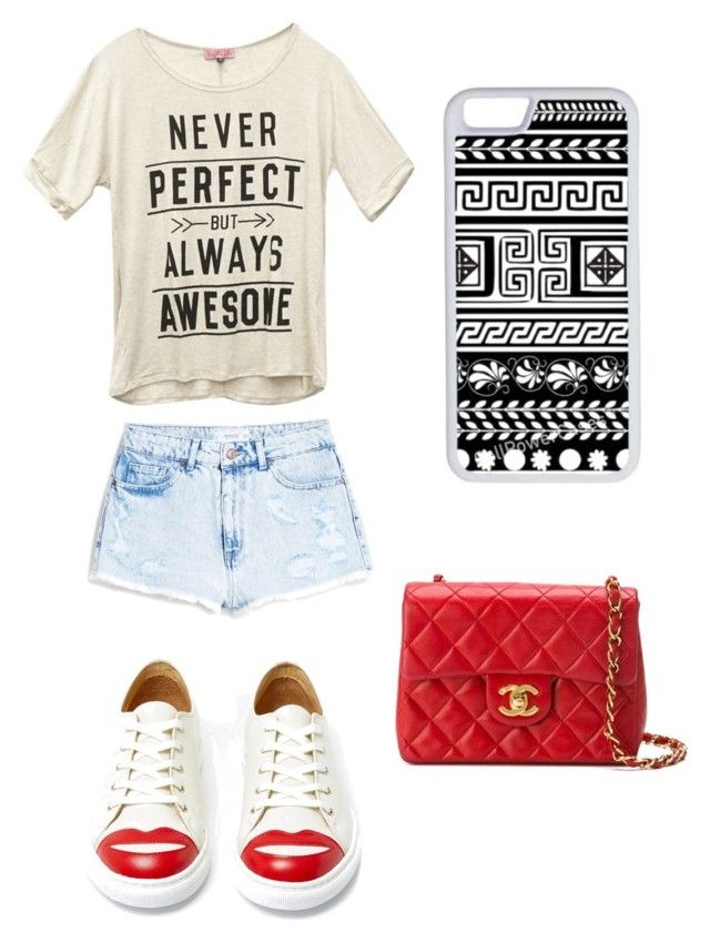 """""""Untitled #43"""" by kmk2004 ❤ liked on Polyvore featuring MANGO, Wet Seal, CellPowerCases, Charlotte Olympia and Chanel"""