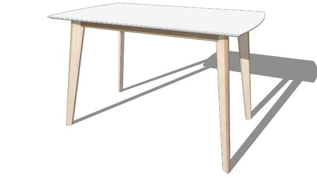 Large preview of 3D Model of MIA, Table de salle à manger en bois - modele de salle a manger design