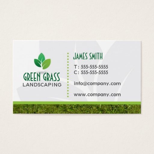 Landscaping Professional Business Card Zazzle Com Landscaping Business Cards Professional Business Cards Landscaping Business