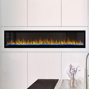 Napoleon 74 In Alluravision Slim Wall Mount Electric Fireplace