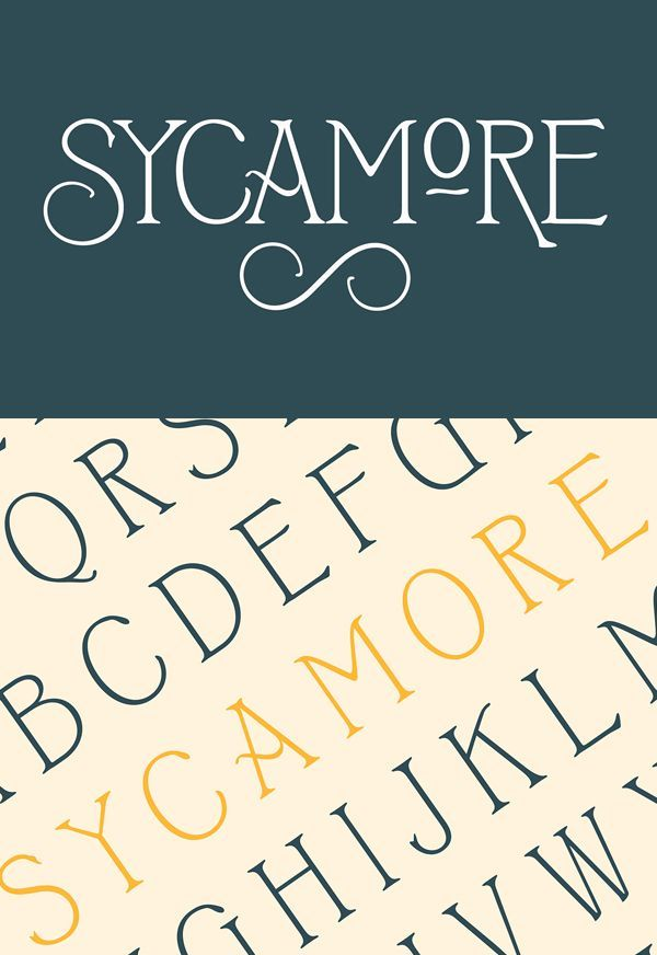 Download Sycamore Free Font #free #fonts #templates free fonts for ...