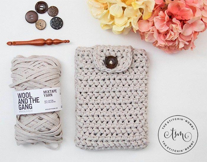 Herringbone Tablet Cover - Free Crochet Pattern | Accesorios para ...