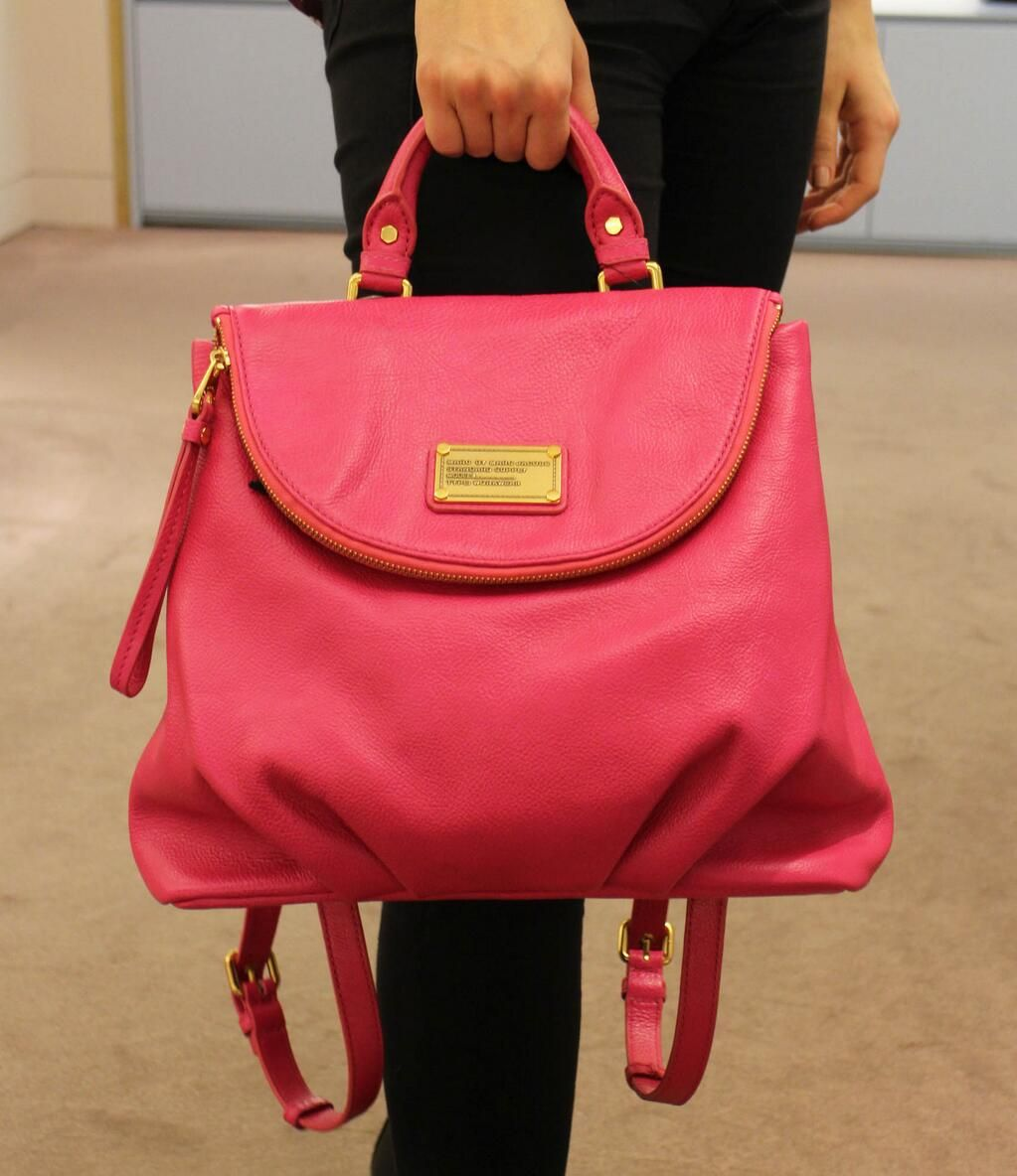 In a brazen and bold shade, this Marc Jacobs backpack has certainly brightened up our day…