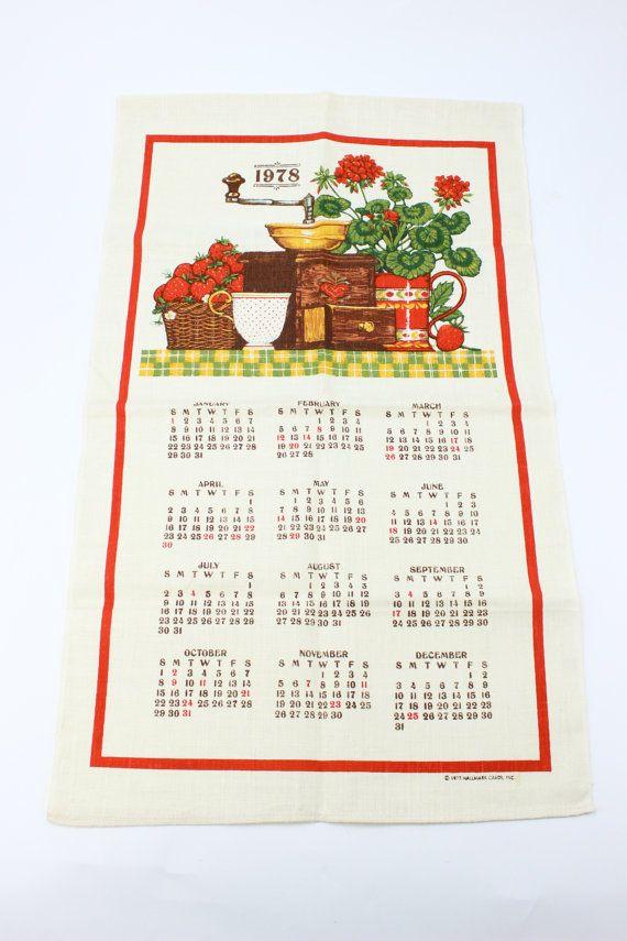 1978 2017 1978 Vintage Linen Calendar By Hallmark By