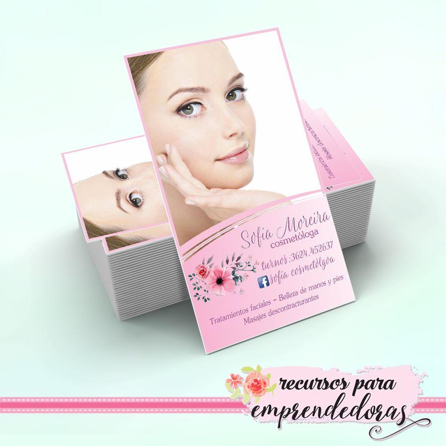 Diseño de tarjeta personal para Cosmetóloga / Recursos para ...