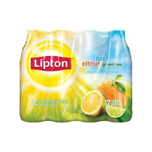 Diet Lipton Citrus Green Tea 16 9 Fl Oz 12 Count Walmart Com Liked On Polyvore Featuring Food And Food Drinks Green Tea Diet Green Tea Citrus Greening