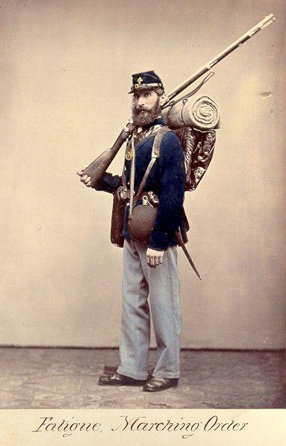Union Uniform - Fatigue Marching Order - Quartermaster Museum, Virginia   American civil war, Civil war, Civil war history