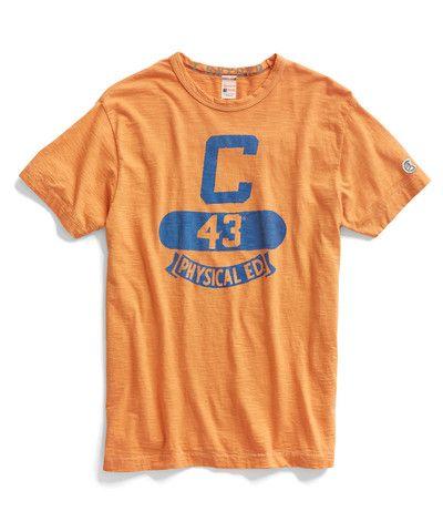 420bf04f Orange Phys Ed Crew T-Shirt | T-shirts | Gola careca, Golas, Estampas