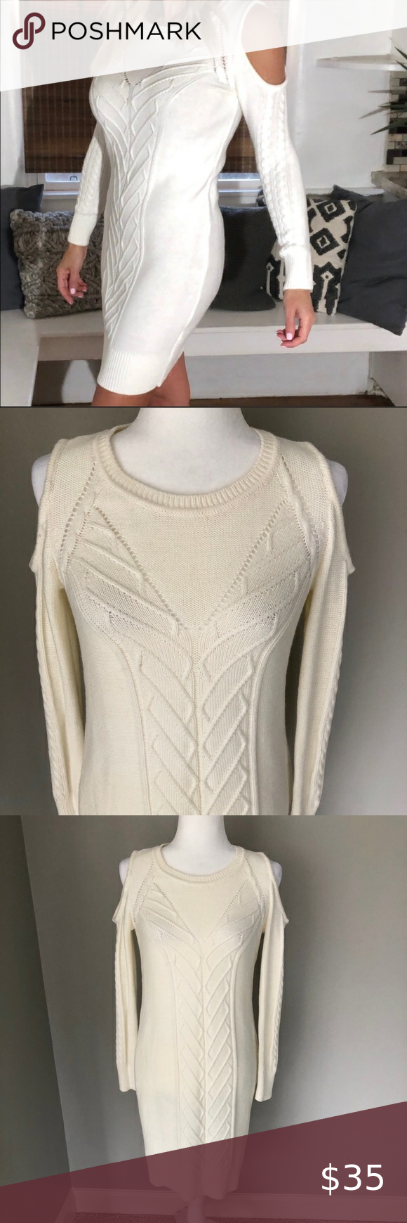 Banana republic cold shoulder sweater dress in 2020 Cold