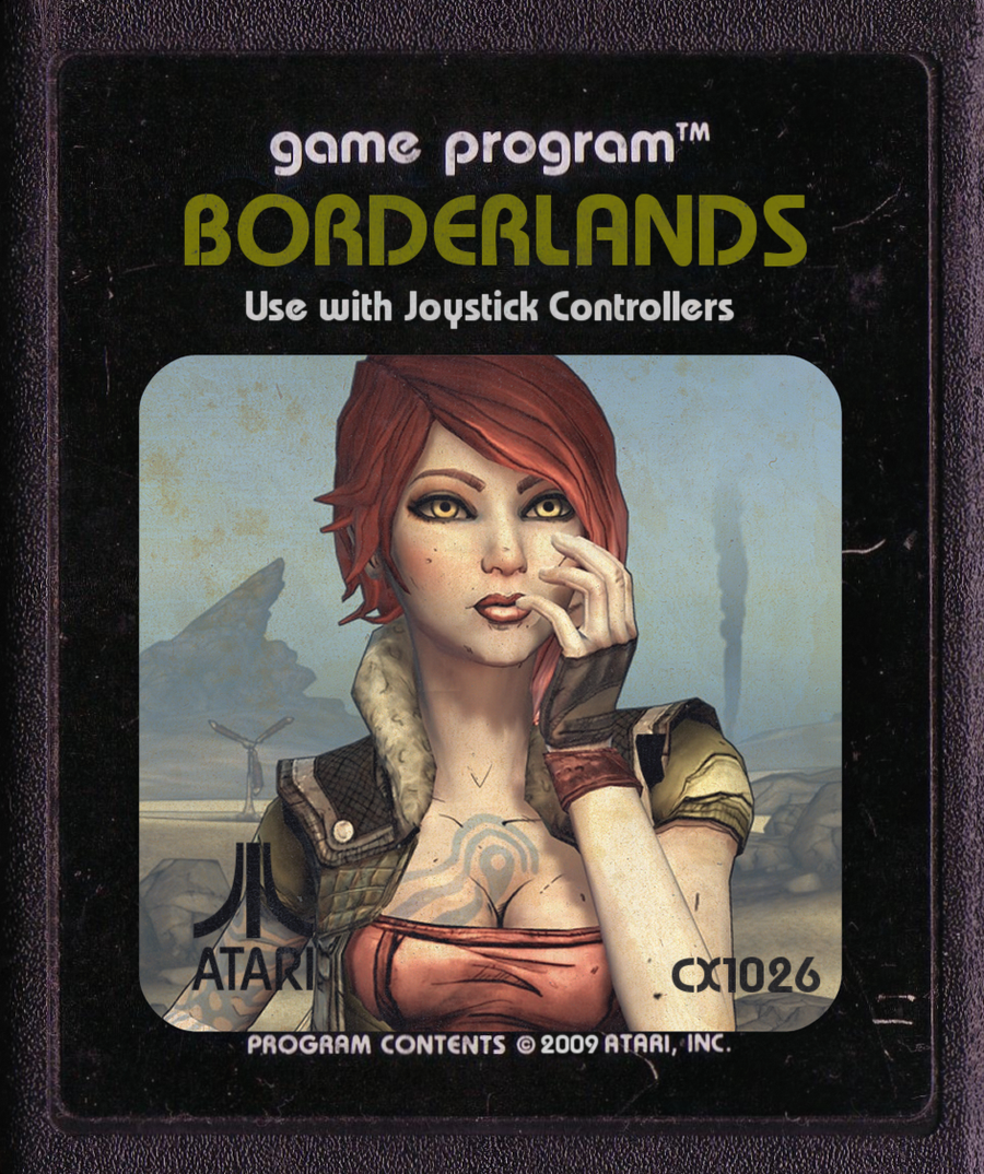 Borderlands, Atari Cartridge Hi-Res By ~Bunnelle On