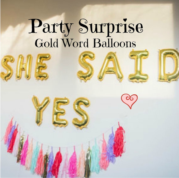 Gold Letter Balloons Air Filled Love Happy Birthday XOXO Baby I You New Year