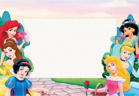 Kit Princesas Disney Para Imprimir Gratis Aniversario Com Tema